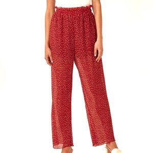 The Fifth Label red polka dot wide leg pants